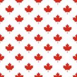 Teste padrão sem emenda da folha de bordo do símbolo da bandeira de país de Canadá ilustração stock