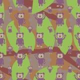 Teste padrão sem emenda da folha do ramo da simetria da coala dos desenhos animados ilustração stock