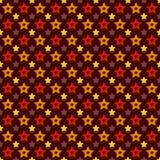 Teste padrão sem emenda da forma da estrela do triunfo do feriado do vetor Fotografia de Stock