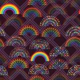 Teste padrão sem emenda da forma do diamante do amor da estrela do arco-íris ilustração royalty free