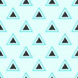 Teste padrão sem emenda da forma do triângulo ilustração stock
