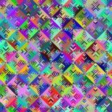 Teste padrão sem emenda da forma geométrica diferente Imagens de Stock Royalty Free