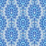 Teste padrão sem emenda da forma no estilo da telha do Majolica para o projeto de matéria têxtil ilustração royalty free