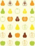 Teste padrão sem emenda da fruta Foto de Stock Royalty Free