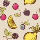 Teste padrão sem emenda da fruta Fotos de Stock Royalty Free