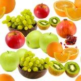Teste padrão sem emenda da fruta Fotografia de Stock Royalty Free