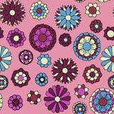 Teste padrão sem emenda da garatuja floral ilustração stock