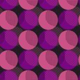 Teste padrão sem emenda da geometria do estilo do disco Imagem de Stock