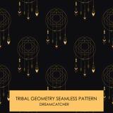Teste padrão sem emenda da geometria tribal Fotos de Stock Royalty Free