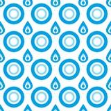 Teste padrão sem emenda da gota de água do vetor Ilustração do Vetor