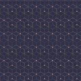 Teste padrão sem emenda da grade Cubo geométrico, efeito da estrela Projeto gráfico da forma Ilustração do vetor Projeto do fundo Imagem de Stock Royalty Free