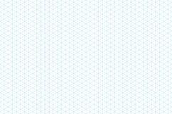 Teste padrão sem emenda da grade isométrica do molde ilustração do vetor