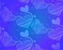 Teste padrão sem emenda da ilustração do vetor com corações Foto de Stock