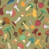 Teste padrão sem emenda da ilustração do vetor dos cogumelos ilustração stock