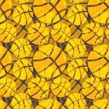 Teste padrão sem emenda da laranja da textura do sumário da bola do basquetebol Fotos de Stock Royalty Free