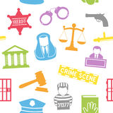Teste padrão sem emenda da lei & da ordem Fotos de Stock Royalty Free