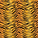 Teste padrão sem emenda da listra do tigre imagens de stock