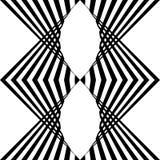 Teste padrão sem emenda da listra vertical Linha preto e branco vagabundos do vetor Fotografia de Stock Royalty Free