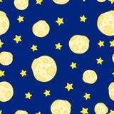 Teste padrão sem emenda da lua Imagem de Stock Royalty Free