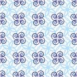 Teste padrão sem emenda da luz bonita - linhas encaracolado azuis Foto de Stock Royalty Free