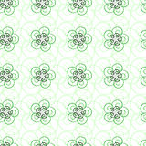 Teste padrão sem emenda da luz bonita - linhas encaracolado verdes Foto de Stock