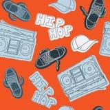 Teste padrão sem emenda da música do hip-hop Imagem de Stock
