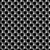 Teste padrão sem emenda da malha retangular do metal Imagens de Stock
