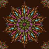 Teste padrão sem emenda da mandala do vetor Indiano, tibetano, motivos do otomano Imagem de Stock Royalty Free