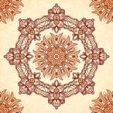 Teste padrão sem emenda da mandala do vintage no mehndi indiano Foto de Stock Royalty Free