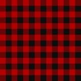 Teste padrão sem emenda da manta do lenhador Imagem de Stock Royalty Free