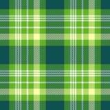 Teste padrão sem emenda da manta em verde-claro, em amarelo e em branco Imagem de Stock Royalty Free