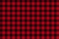 Teste padrão sem emenda da manta preta vermelha do lenhador ilustração royalty free