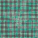 Teste padrão sem emenda da manta verde e cinzenta Fotografia de Stock Royalty Free