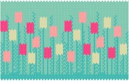 Teste padrão sem emenda da mola com tulips Imagem de Stock