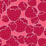 Teste padrão sem emenda da morango vermelha, mistura vermelha da morango Fotos de Stock Royalty Free