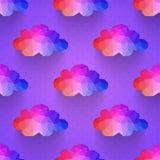 Teste padrão sem emenda da nuvem Imagem de Stock