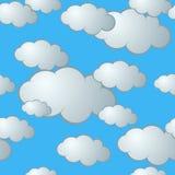 Teste padrão sem emenda da nuvem fotos de stock