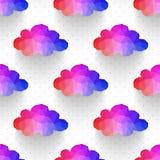 Teste padrão sem emenda da nuvem fundo feito dos comp(s) quadrados dos triângulos Fotos de Stock