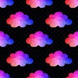 Teste padrão sem emenda da nuvem fundo feito dos comp(s) quadrados dos triângulos Foto de Stock