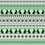 Teste padrão sem emenda da Páscoa, cartão - estilo escandinavo da camiseta Fotografia de Stock Royalty Free