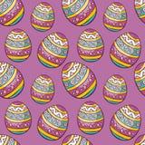Teste padrão sem emenda da Páscoa com ovos coloridos Fotos de Stock