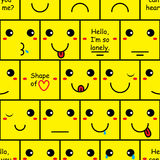Teste padrão sem emenda da parede do sorriso da caixa Imagem de Stock