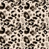 Teste padrão sem emenda da pele animal na moda do leopardo Brown e cores bege ilustração stock