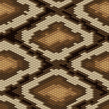 Teste padrão sem emenda da pele de serpente do pitão Vetor Fotos de Stock Royalty Free