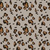 Teste padr?o sem emenda da pele do leopardo no fundo cinzento C?pia animal ilustração do vetor