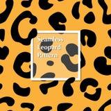 Teste padrão sem emenda da pele do leopardo para seu projeto ilustração do vetor