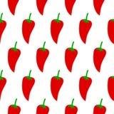 Teste padrão sem emenda da pimenta Imagens de Stock Royalty Free