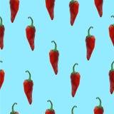 Teste padrão sem emenda da pimenta de pimentão Fotos de Stock Royalty Free
