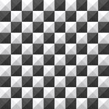 Teste padrão sem emenda da pirâmide do tabuleiro de xadrez Imagem de Stock