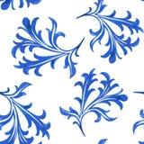 Teste padrão sem emenda da porcelana do vetor no fundo branco Fotos de Stock Royalty Free